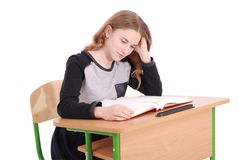Education, people, teenager and school concept - teenager school girl Royalty Free Stock Photography