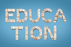 EDUCATION phrase arranged from books Stock Photo