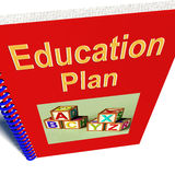Education Plan Shows Learning Strategy Royalty Free Stock Photography