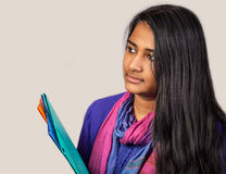 Education portrait of an india woman Stock Photos