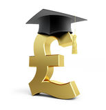 Education pound Business School. On a white background Royalty Free Stock Photo