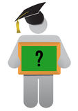 Education presentation question Royalty Free Stock Image