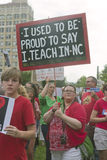 Education Protest Signs At a Moral Monday Rally Royalty Free Stock Photography