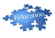 Education puzzle Royalty Free Stock Images