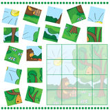 Education puzzle game for children vector illustration