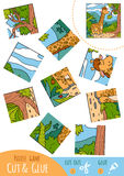 Education puzzle game for children, Giraffe Royalty Free Stock Photo