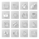 Education or quiz subject icons Stock Photos