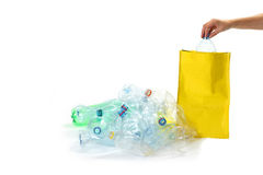 Education for recycling of plastic waste concept Royalty Free Stock Image