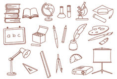 Education related doodle icons Royalty Free Stock Photography