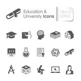 Education related icons. Royalty Free Stock Photography