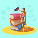 Education retro cartoon Stock Photography