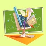 Education retro cartoon Stock Photos