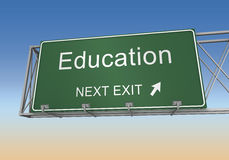Education road sign Royalty Free Stock Photo