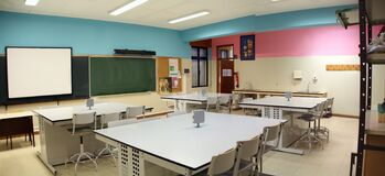 Education Room Laboratory Stock Photo