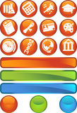 Education Round Button Set Royalty Free Stock Images
