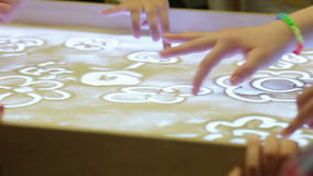 Education sand animation stock footage