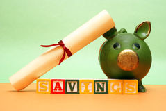 Education Savings. A concept related to saving early in a childs life for their future education Royalty Free Stock Images