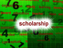 Education Scholarship Shows School Training And Schooling Royalty Free Stock Image