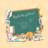Education school board back to school college school subjects Royalty Free Stock Image