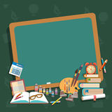 Education school board back to school textbooks notebooks Royalty Free Stock Images