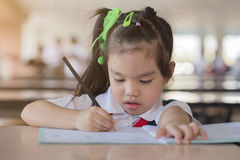 Education and school concept homework is too much. For little kids Royalty Free Stock Images