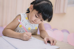 Education and school concept homework is too much for little kids Stock Image