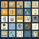 Education School Flat Icon Set Stock Photography