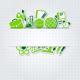 Education school icon  collection Royalty Free Stock Photography