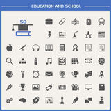 Education and school icon set Stock Photos