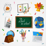 Education and school icon set  on white. Royalty Free Stock Photography
