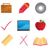 Education and school icons Royalty Free Stock Image