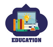 Education and school icons Stock Photo