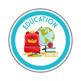 Education and school icons. Education concept with school icons design, vector illustration 10 eps graphic Royalty Free Stock Photography
