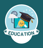 Education and school icons. Education concept with school icons design, vector illustration 10 eps graphic Royalty Free Stock Image