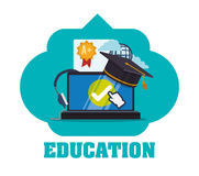 Education and school icons. Education concept with school icons design, vector illustration 10 eps graphic Stock Image
