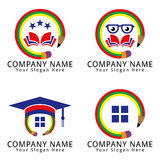 Education School Logo with Back to School Concept Stock Photography