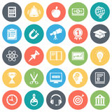 Education and School Minimal Icon Set Royalty Free Stock Photo
