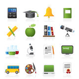 Education and school objects icons Stock Image