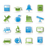 Education and school objects icons Royalty Free Stock Photo