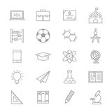 Education School and Science Icons Line Set Of Vector Illustration Royalty Free Stock Image