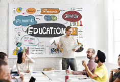 Education School Studies Learning Graphics Concept Royalty Free Stock Images