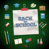 Education and School Supplies icon set Stock Photos