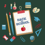 Education and School Supplies icon set Royalty Free Stock Photo