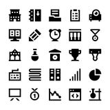 Education and School Vector Icons 5 Royalty Free Stock Photos