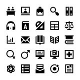 Education and School Vector Icons 7 Royalty Free Stock Image