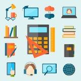 Education and school vector illustration web icon set college training graduate symbols. Stock Photography