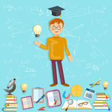 Education schoolboy power of knowledge Stock Photo