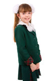 Education. Schoolgirl in school uniform. Royalty Free Stock Photos