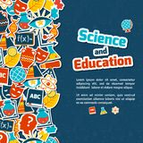 Education science background Royalty Free Stock Image