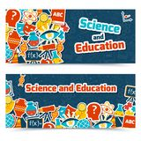 Education science banners Royalty Free Stock Photography